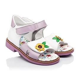 Детские босоножки Woopy Orthopedic разноцветные для девочек натуральная кожа размер 18-30 (8175) Фото 1