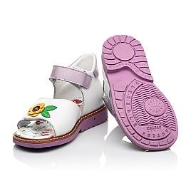 Детские босоножки Woopy Orthopedic разноцветные для девочек натуральная кожа размер 18-30 (8175) Фото 2