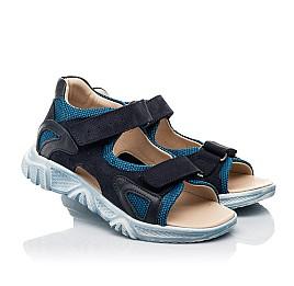 Детские босоножки Woopy Fashion синие для мальчиков натуральный нубук и искусственный материал размер 21-40 (8176) Фото 1