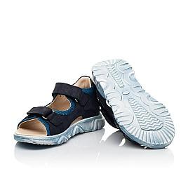 Детские босоножки Woopy Fashion синие для мальчиков натуральный нубук и искусственный материал размер 21-40 (8176) Фото 2