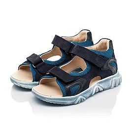 Детские босоножки Woopy Fashion синие для мальчиков натуральный нубук и искусственный материал размер 21-40 (8176) Фото 3