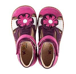 Детские закрытые босоножки Woopy Orthopedic разноцветные для девочек натуральный нубук размер 18-28 (8177) Фото 5