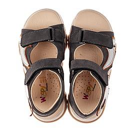 Детские босоножки Woopy Fashion серые для мальчиков натуральный нубук размер 26-36 (8178) Фото 5