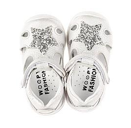 Детские закрытые босоножки Woopy Fashion серебряные для девочек натуральный нубук размер 19-21 (8182) Фото 5