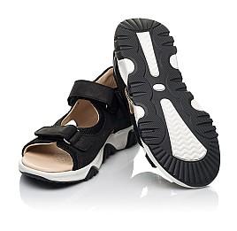 Детские босоножки Woopy Fashion черные для мальчиков натуральный нубук размер 26-40 (8183) Фото 2