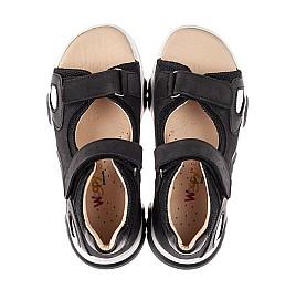 Детские босоножки Woopy Fashion черные для мальчиков натуральный нубук размер 26-40 (8183) Фото 5
