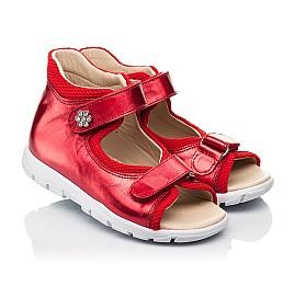 Детские босоножки Woopy Fashion красные для девочек натуральная кожа размер 23-36 (8184) Фото 1