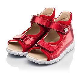 Детские босоножки Woopy Fashion красные для девочек натуральная кожа размер 23-36 (8184) Фото 3