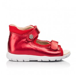 Детские босоножки Woopy Fashion красные для девочек натуральная кожа размер 23-36 (8184) Фото 4