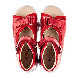 Детские босоножки Woopy Fashion красные для девочек натуральная кожа размер 23-36 (8184) Фото 5