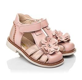 Детские закрытые босоножки Woopy Orthopedic розовые для девочек натуральная кожа размер 18-30 (8186) Фото 1