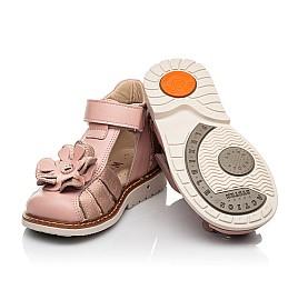 Детские закрытые босоножки Woopy Orthopedic розовые для девочек натуральная кожа размер 18-30 (8186) Фото 2