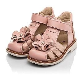 Детские закрытые босоножки Woopy Orthopedic розовые для девочек натуральная кожа размер 18-30 (8186) Фото 3