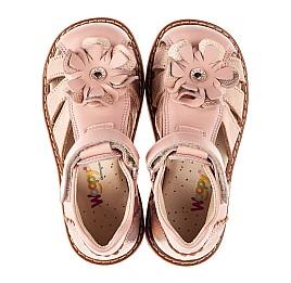 Детские закрытые босоножки Woopy Orthopedic розовые для девочек натуральная кожа размер 18-30 (8186) Фото 5