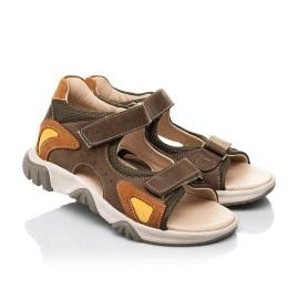 Детские босоножки Woopy Fashion коричневые для мальчиков натуральная кожа размер 21-36 (8187) Фото 1