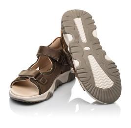 Детские босоножки Woopy Fashion коричневые для мальчиков натуральная кожа размер 21-36 (8187) Фото 2