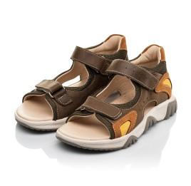Детские босоножки Woopy Fashion коричневые для мальчиков натуральная кожа размер 21-36 (8187) Фото 3