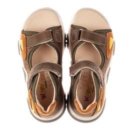 Детские босоножки Woopy Fashion коричневые для мальчиков натуральная кожа размер 21-36 (8187) Фото 5