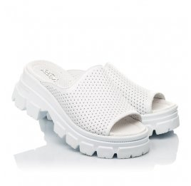 Детские сабо Woopy Fashion белые для девочек натуральная кожа размер 36-40 (8191) Фото 1