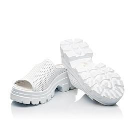 Детские сабо Woopy Fashion белые для девочек натуральная кожа размер 36-40 (8191) Фото 2
