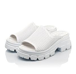 Детские сабо Woopy Fashion белые для девочек натуральная кожа размер 36-40 (8191) Фото 3