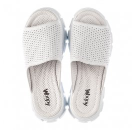 Детские сабо Woopy Fashion белые для девочек натуральная кожа размер 36-40 (8191) Фото 5