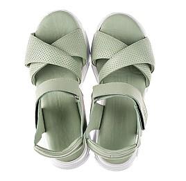Детские босоножки Woopy Fashion зеленые для девочек натуральная кожа размер 36-40 (8192) Фото 5