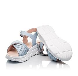 Детские босоножки Woopy Fashion голубые для девочек натуральная кожа размер 36-39 (8193) Фото 2