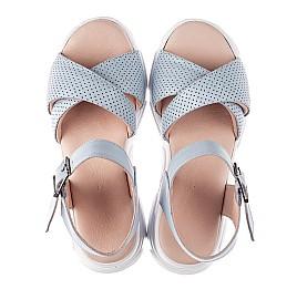 Детские босоножки Woopy Fashion голубые для девочек натуральная кожа размер 36-39 (8193) Фото 5
