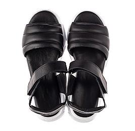 Детские босоножки Woopy Fashion черные для девочек натуральная кожа размер 36-40 (8194) Фото 5