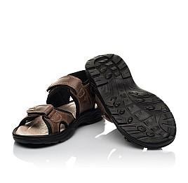 Детские босоножки Woopy Fashion коричневые для мальчиков натуральная кожа размер 31-40 (8196) Фото 2