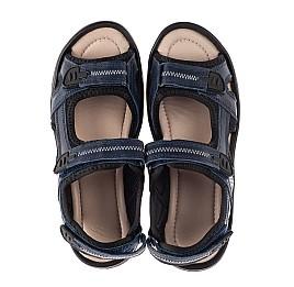 Детские босоножки Woopy Fashion синие для мальчиков натуральная кожа размер 36-40 (8197) Фото 5