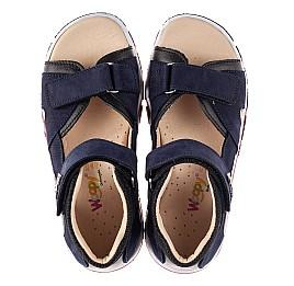 Детские босоножки Woopy Fashion синие для мальчиков натуральный нубук размер 28-40 (8198) Фото 5