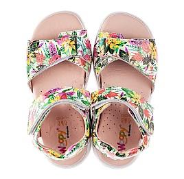 Детские босоножки Woopy Fashion разноцветные для девочек лаковая кожа размер 24-33 (8200) Фото 5