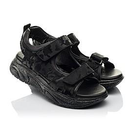 Детские босоножки Woopy Fashion черные для девочек натуральная кожа размер 33-39 (8203) Фото 1