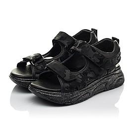 Детские босоножки Woopy Fashion черные для девочек натуральная кожа размер 33-39 (8203) Фото 3