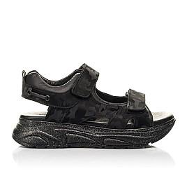 Детские босоножки Woopy Fashion черные для девочек натуральная кожа размер 33-39 (8203) Фото 4