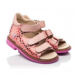 Детские босоножки Woopy Orthopedic розовые для девочек натуральный нубук и кожа размер 22-34 (8204) Фото 1