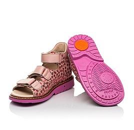 Детские босоножки Woopy Orthopedic розовые для девочек натуральный нубук и кожа размер 22-34 (8204) Фото 2