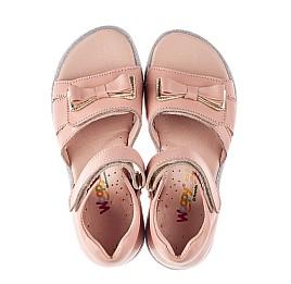 Детские босоножки Woopy Fashion пудровые для девочек натуральная кожа размер 23-33 (8205) Фото 5