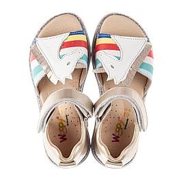 Детские босоножки Woopy Fashion разноцветные для девочек натуральная кожа размер 23-33 (8206) Фото 5