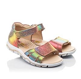 Детские босоножки Woopy Fashion разноцветные для девочек натуральный нубук размер 23-31 (8208) Фото 1