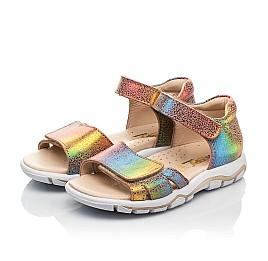Детские босоножки Woopy Fashion разноцветные для девочек натуральный нубук размер 23-31 (8208) Фото 3