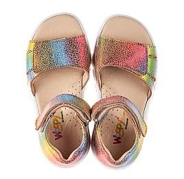 Детские босоножки Woopy Fashion разноцветные для девочек натуральный нубук размер 23-31 (8208) Фото 5