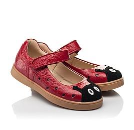 Детские туфли Woopy Fashion красные для девочек натуральная кожа размер 20-30 (8209) Фото 1