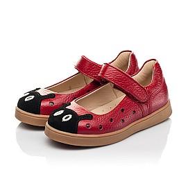Детские туфли Woopy Fashion красные для девочек натуральная кожа размер 20-30 (8209) Фото 3