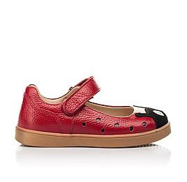 Детские туфли Woopy Fashion красные для девочек натуральная кожа размер 20-30 (8209) Фото 4