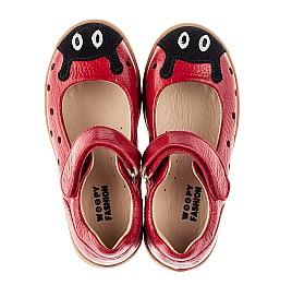Детские туфли Woopy Fashion красные для девочек натуральная кожа размер 20-30 (8209) Фото 5