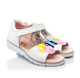 Детские босоножки Woopy Fashion белые для девочек натуральная кожа размер 23-33 (8210) Фото 1