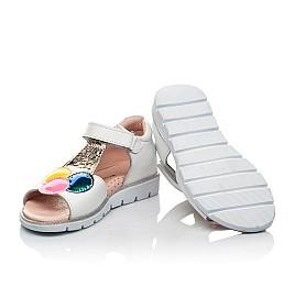 Детские босоножки Woopy Fashion белые для девочек натуральная кожа размер 23-33 (8210) Фото 2